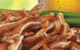 Свиные уши к пиву: самые популярные рецепты приготовления